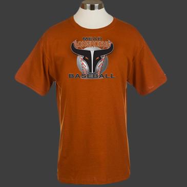 new logo orange tee
